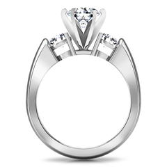 Three Stone Engagement Ring Justine 14K White Gold