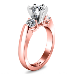 Three Stone Engagement Ring Justine 14K Rose Gold