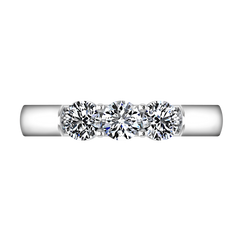 Diamond Wedding Band Justine 0.51 Cts 14K White Gold