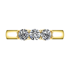 Diamond Wedding Band Justine 0.51 Cts 14K Yellow Gold