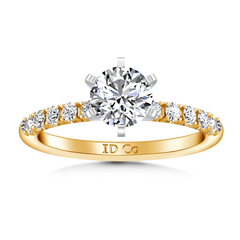 Pave Engagement Ring Grace 14K Yellow Gold