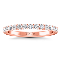 Diamond Wedding Band Grace 0.3 Cts 14K Rose Gold