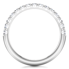 Diamond Wedding Band Grace 0.3 Cts 14K White Gold