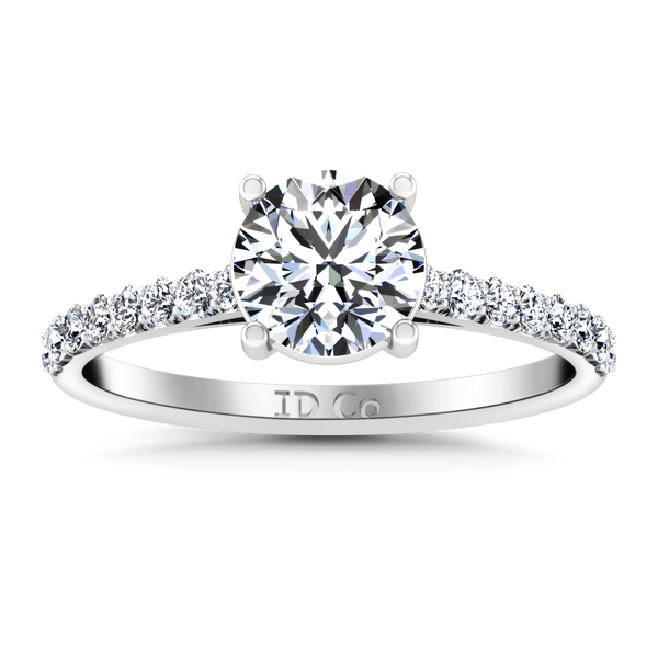 Pave Engagement Ring Yvette 14K White Gold