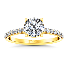 Pave Engagement Ring Yvette 14K Yellow Gold