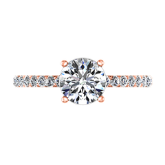 Pave Engagement Ring Yvette 14K Rose Gold