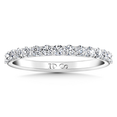 Diamond Wedding Band Yvette 0.3 Cts 14K White Gold
