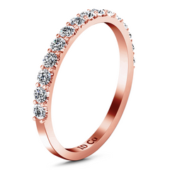 Diamond Wedding Band Yvette 0.3 Cts 14K Rose Gold