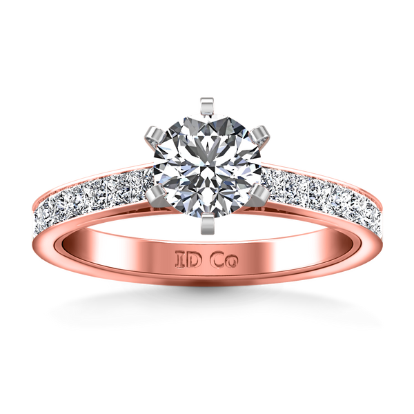 Pave Engagement Ring Calla 14K Rose Gold