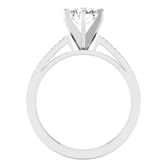 Pave Engagement Ring Calla 14K White Gold