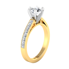 Pave Engagement Ring Calla 14K Yellow Gold