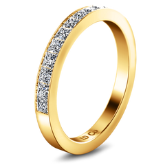Diamond Wedding Band Calla 0.42 Cts 14K Yellow Gold