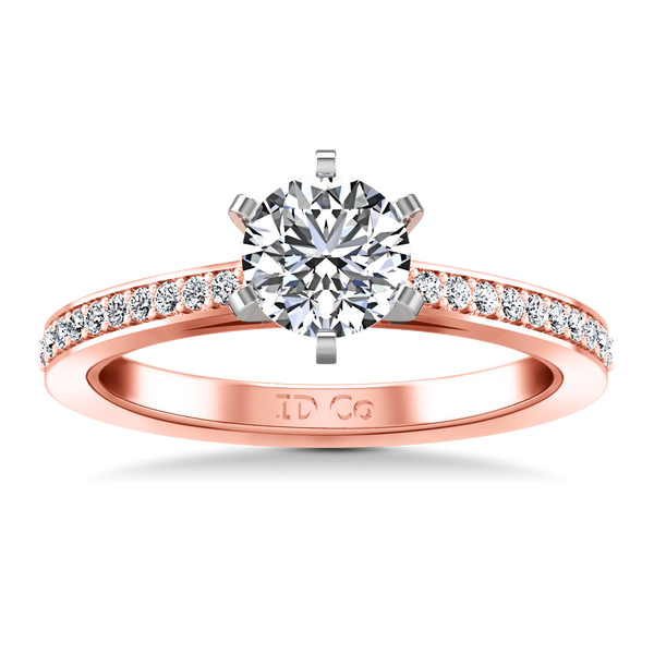 Pave Engagement Ring Ashley 14K Rose Gold