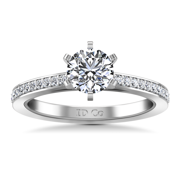 Pave Engagement Ring Ashley 14K White Gold