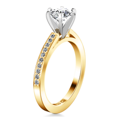 Pave Engagement Ring Ashley 14K Yellow Gold
