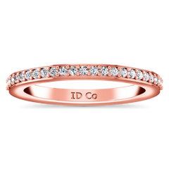 Diamond Wedding Band Ashley 0.27 Cts 14K Rose Gold