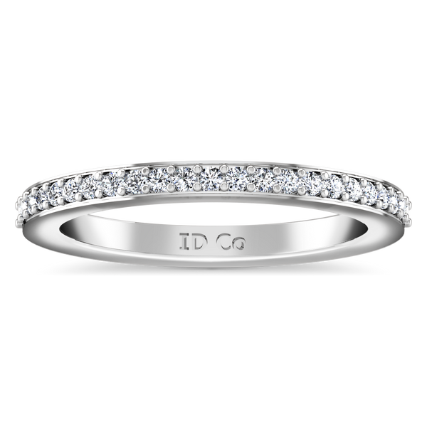 Diamond Wedding Band Ashley 0.27 Cts 14K White Gold