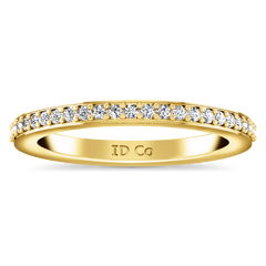 Diamond Wedding Band Ashley 0.27 Cts 14K Yellow Gold