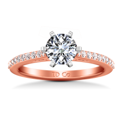 Pave Engagement Ring Juliette 14K Rose Gold