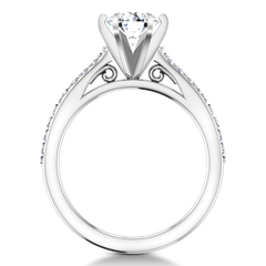 Pave Engagement Ring Juliette 14K White Gold
