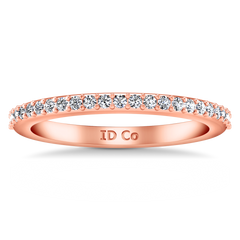 Diamond Wedding Band Juliette 0.2 Cts 14K Rose Gold