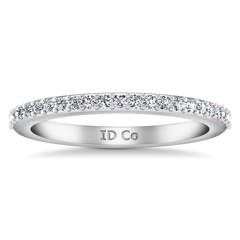 Diamond Wedding Band Juliette 0.2 Cts 14K White Gold