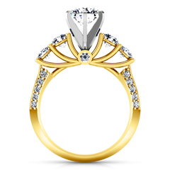 Pave Engagement Ring Regal 14K Yellow Gold