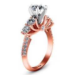 Pave Engagement Ring Regal 14K Rose Gold