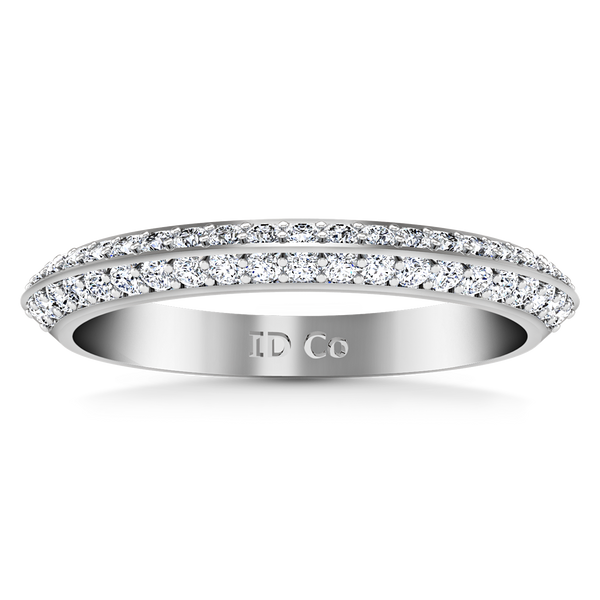 Diamond Wedding Band Regal 0.42 Cts 14K White Gold