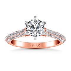 Pave Engagement Ring Royal 14K Rose Gold