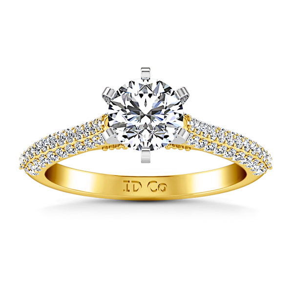 Pave Engagement Ring Royal 14K Yellow Gold