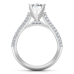 Pave Engagement Ring Royal 14K White Gold