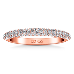 Diamond Wedding Band Royal 0.82 Cts 14K Rose Gold