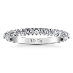 Diamond Wedding Band Royal 0.82 Cts 14K White Gold