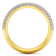 Diamond Wedding Band Royal 0.82 Cts 14K Yellow Gold