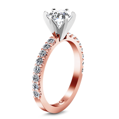 Pave Engagement Ring Lauren 14K Rose Gold