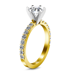 Pave Engagement Ring Lauren 14K Yellow Gold
