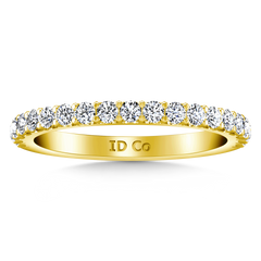 Diamond Wedding Band Lauren 0.29 Cts 14K Yellow Gold