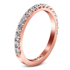 Diamond Wedding Band Lauren 0.29 Cts 14K Rose Gold