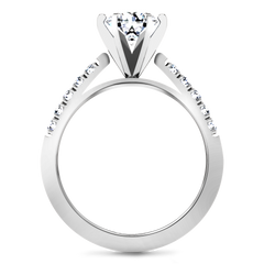 Pave Engagement Ring Beth 14K White Gold