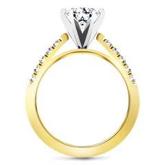 Pave Engagement Ring Beth 14K Yellow Gold