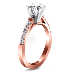 Pave Engagement Ring Beth 14K Rose Gold