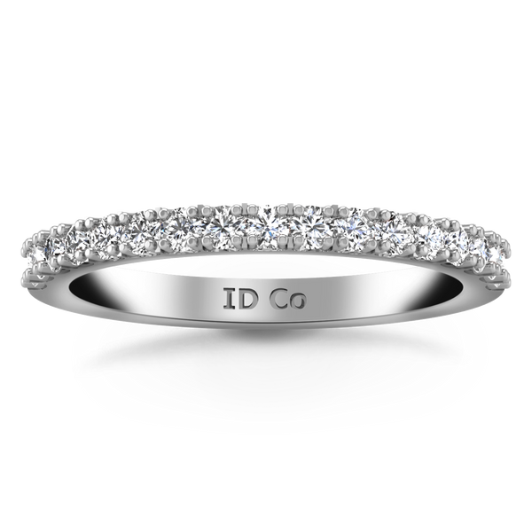 Diamond Wedding Band Beth 0.24 Cts 14K White Gold
