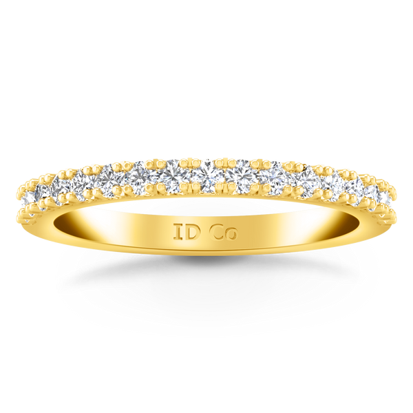 Diamond Wedding Band Beth 0.24 Cts 14K Yellow Gold