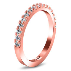 Diamond Wedding Band Beth 0.24 Cts 14K Rose Gold
