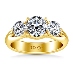 Three Stone Engagement Ring Charlotte 14K Yellow Gold