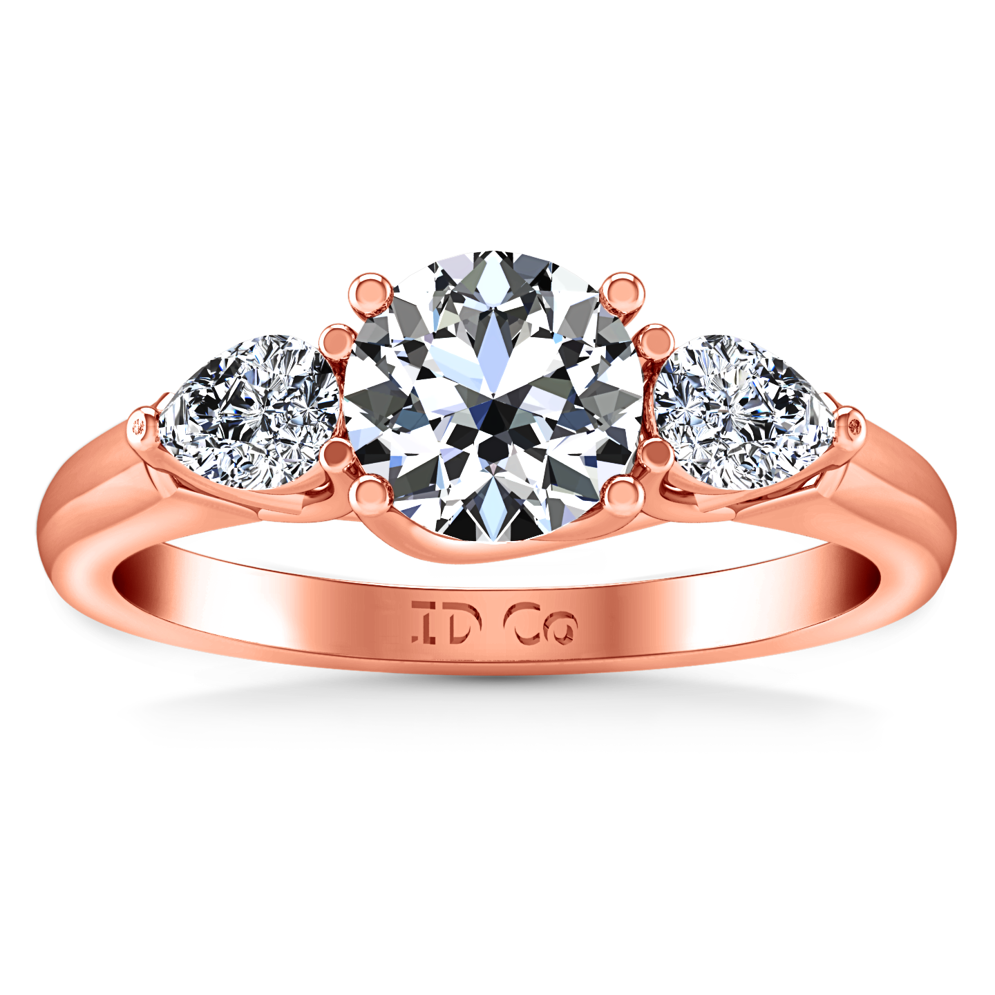 rings this oval image pave diamond setting ring center three accents a c the shows with w wedding stone engagement can