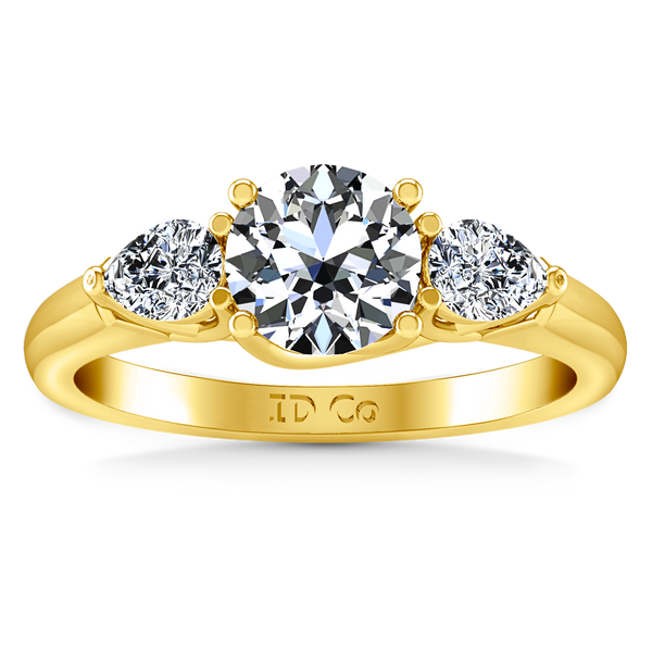 Three Stone Engagement Ring Chantal 14K Yellow Gold