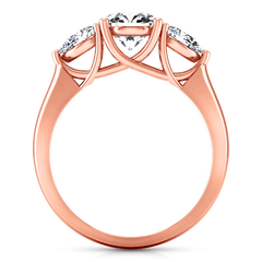 Three Stone Engagement Ring Chantal 14K Rose Gold