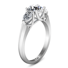 Three Stone Engagement Ring Chantal 14K White Gold